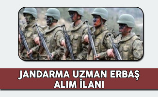 Jandarma Genel Komutanlığı Uzman Erbaş Alım İlanı