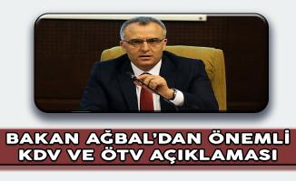 Maliye Bakanı Ağbal'dan Önemli KDV ve ÖTV Açıklaması