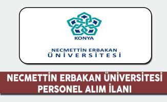 Necmettin Erbakan Üniversitesi Personel Alım İlanı