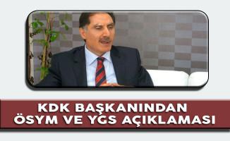 Ombudsman Şeref Malkoç'tan 'ÖSYM'nin 15 Dakika Kuralı' Açıklaması
