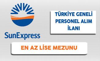 Sunexpress Türkiye Geneli Personel Alım İlanı