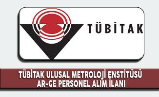 Tübitak Ulusal Metroloji Enstitüsü Personel Alım İlanı