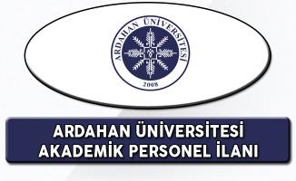 Ardahan Üniversitesi Akademik Personel Alım İlanı