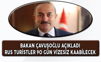 Bakan Çavuşoğlu Açıkladı Rus Turistler Vizesiz 90 Gün Kalabilecekler
