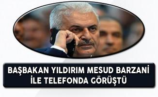 Başbakan Yıldırım Mesud Barzani ile Telefonda Görüştü