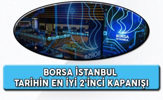 Borsa İstanbul Tarihinin En İyi 2'nci Kapanışını Gerçekleştirdi