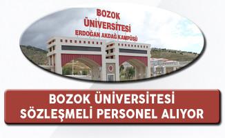 Bozok Üniversitesi Sözleşmeli Personel Alımı Yapıyor