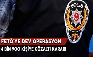 FETÖ'ye Dev Operasyon: 4 Bin 900 Kişiye Gözaltı Kararı