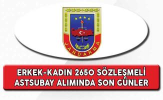 Jandarma Genel Komutanlığı 2 Bin 650 Astsubay Alımında Son Günler (Erkek-Kadın)