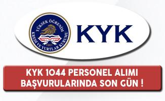Kredi ve Yurtlar Kurumu 1044 Personel Alımı Başvuruları Sona Eriyor