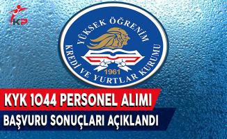 KYK 1044 Personel Alımı Başvuru Sonuçları Açıkladı!