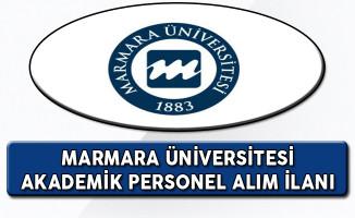 Marmara Üniversitesi Akademik Personel İlanı