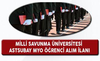 Milli Savunma Üniversitesi Astsubay MYO Öğrenci Alım İlanı