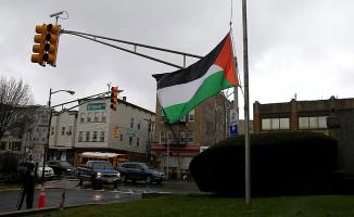 New Jersey'de Filistin Bayrağı Gönderde