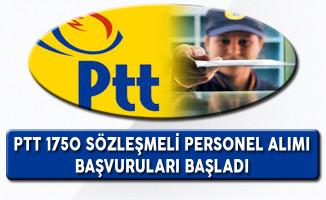 PTT 1750 Sözleşmeli Personel Alımı Başvuruları Başladı !