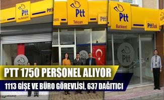 PTT Sözleşmeli 1750 Personel Alımı Yapıyor