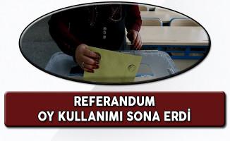 Referandum Oylaması Sona Erdi!