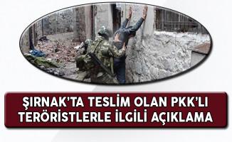 Şırnak'ta Teslim Olan Teröristlerden Birinin Yaşı Küçük!