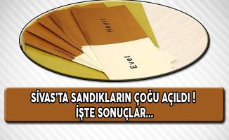 Sivas'ta Sandıkların Çoğu Açıldı! İşte Sonuçlar