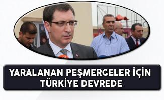 Türkiye Yaralanan Peşmergelerin Tedavileri İçin Devrede