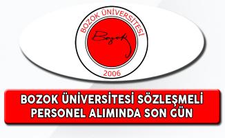Bozok Üniversitesi Sözleşmeli Personel Alımında Son Gün
