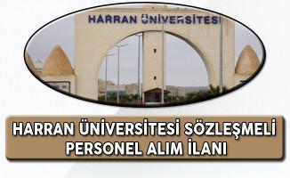 Harran Üniversitesi Sözleşmeli Personel Alım İlanı