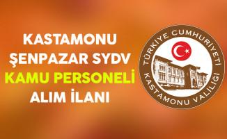 Kastamonu Şenpazar SYDV Kamu Personeli Alım İlanı