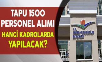 Tapu Kadastro 1500 Personel Alımı Hangi Kadrolarda Yapılacak?