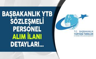 T.C. Başbakanlık YTB Sözleşmeli Personel Alım İlanı Detayları