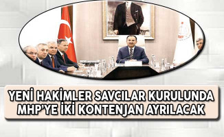 Yeni Hakimler Savcılar Kurulunda (HSK) MHP İçin Kontenjan Ayrılacak