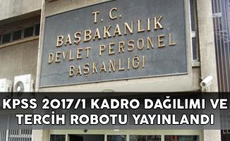 DPB KPSS 2017/1 Tercih Robotu ve Kadro Dağılımı Yayınlandı