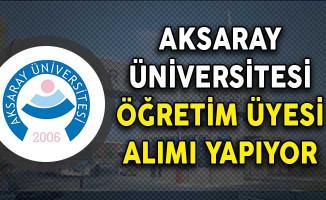Aksaray Üniversitesi Öğretim Üyesi Alımı Yapıyor!