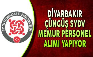 Diyarbakır Çüngüş SYDV Memur Personel Alımı Yapıyor