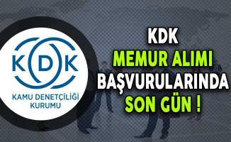 Kamu Denetçiliği Kurumu (KDK) Memur Alımı Başvurularında Son Gün !