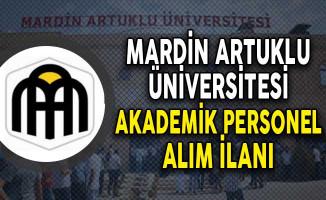 Mardin Artuklu Akademik Personel Alım İlanı