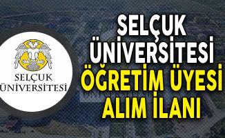 Selçuk Üniversitesi Öğretim Üyesi Alım İlanı!