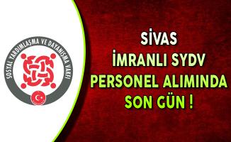 Sivas İmranlı SYDV Memur Personel Alımı Başvurularında Son Gün