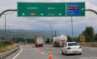 Sürücüler Dikkat ! TEM'in Bolu Kesimi Ankara Yönü 1 Ay Trafiğe Kapatıldı