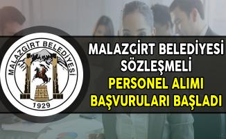 Malazgirt Belediyesi Sözleşmeli Personel Alımı Başvuruları Başladı