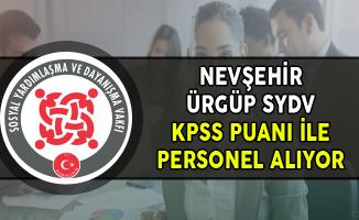 Nevşehir Ürgüp SYDV KPSS En Az 60 Puan ile Kamu Personel Alımı Yapıyor