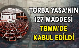 Torba Yasa'nın 127 Maddesi TBMM'de Kabul Edildi