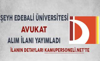 Bilecik Şeyh Edebali Üniversitesi Avukat Alım İlanı
