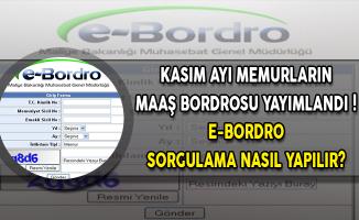 Kasım Ayı Memurların Maaş Bordrosu Yayımlandı ! e-Bordro Sorgulama Nasıl Yapılır?