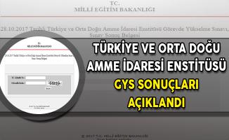 Türkiye ve Orta Doğu Amme İdaresi Enstitüsü GYS Sonuçları MEB Tarafından Açıklandı