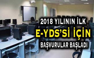 2018 Yılının İlk e-YDS'si (2018/1) İçin Başvurular Başladı