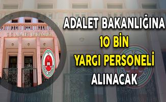 Adalet Bakanlığına 10 Bin Personel Alımı Yapılacak (İKM, Zabıt Katibi ve Mübaşir)