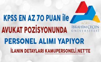 Ağrı İbrahim Çeçen Üniversitesi Avukat Alımında Son Gün