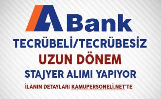 Alternatifbank (ABank) Uzun Dönem Stajyer Alıyor