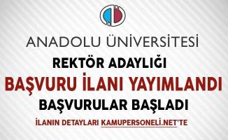 Anadolu Üniversitesi Rektör Adaylığı Başvuru İlanı Yayımlandı