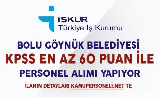 Bolu Göynük Belediyesi En Az Lise Mezunu İşçi Alımı Yapıyor